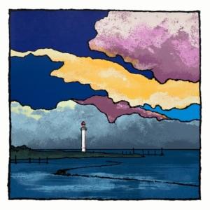 Vals Licht, een zeefdruk van beeldend kunstenaar Wim van Willegen. Met een gelijknamend gedicht van Taco Meeuwsen.