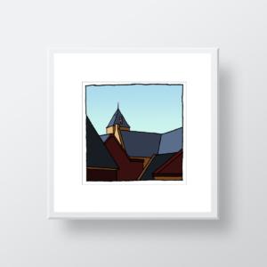 Nieuw Helvoet, een ingelijste fine art print van kunstenaar Wim van Willegen.
