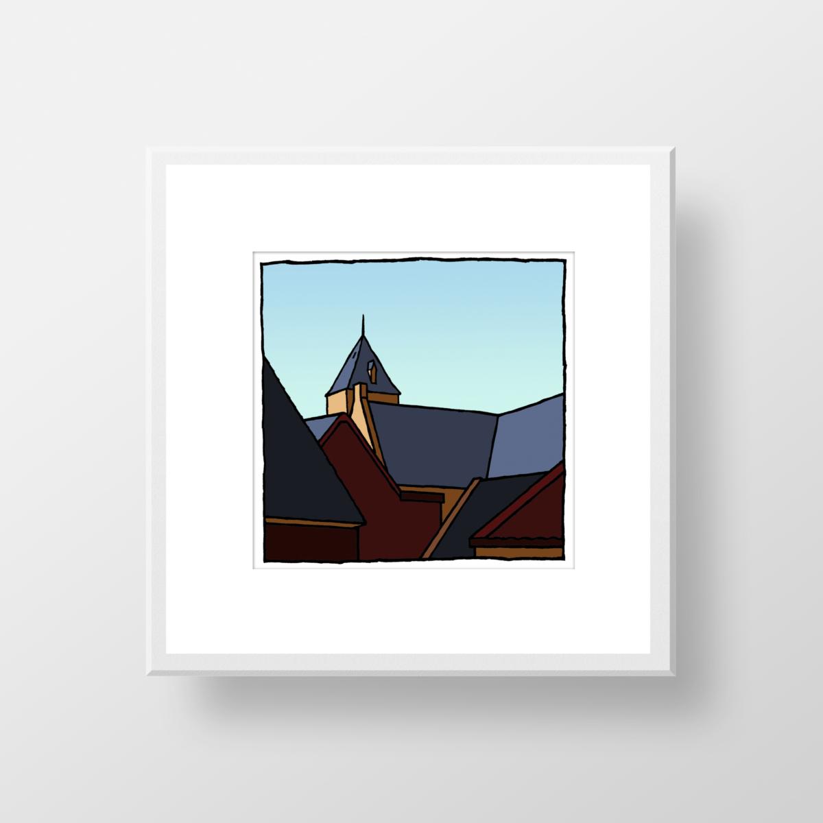 Nieuw Helvoet, een fine art print in lijst van de kunstenaar Wim van Willegen.