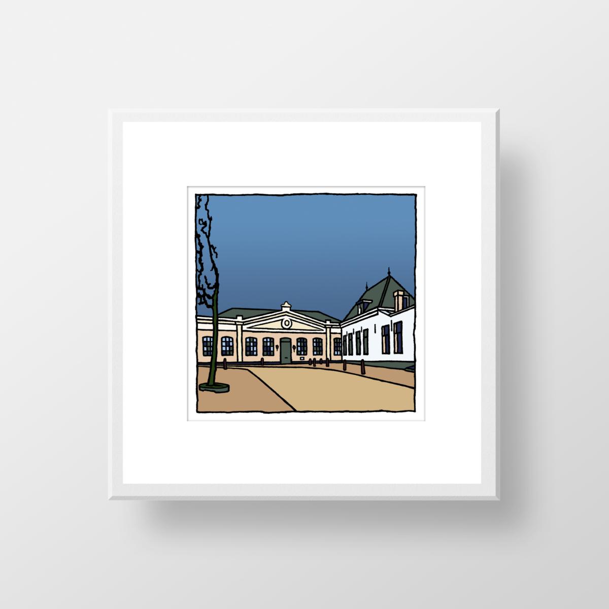 De Veste in Hellevoetsluis als fine art print gemaakt door kunstenaar Wim van Willegen.