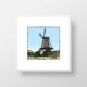 Een fine art print van de molen van Geervliet in lijst gemaakt door kunstenaar Wim van Willegen.