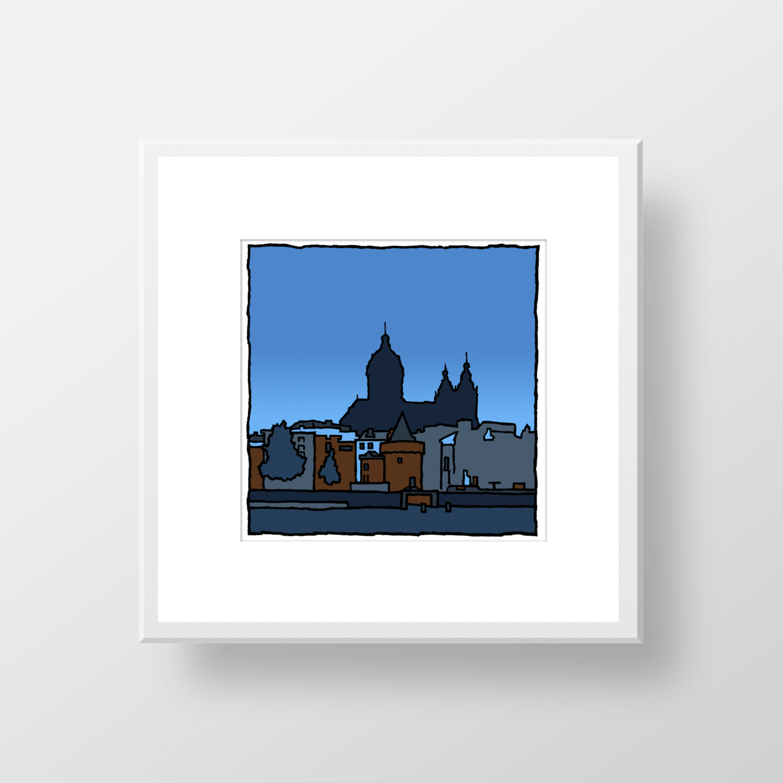 Basiliek van de Heilige Nicolaas Amsterdam / fine art print