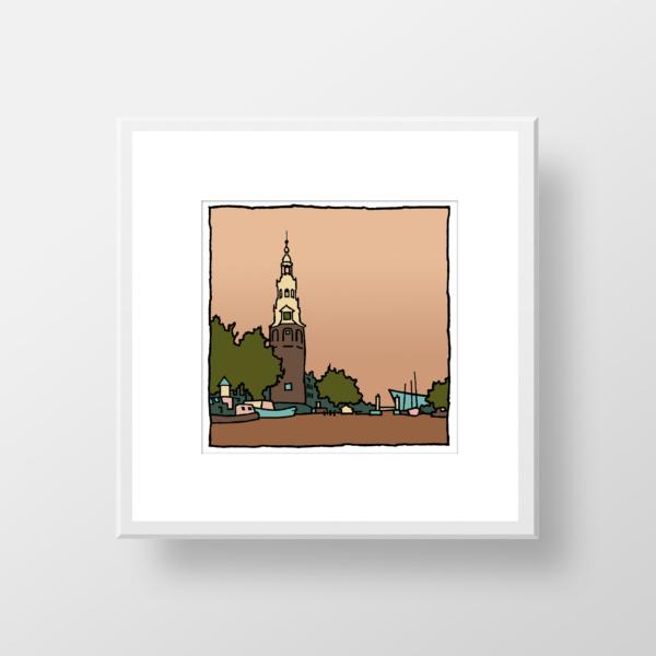Montelbaanstoren Amsterdam / fine art print