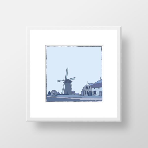 Molen Oudenhoorn (vroeger) / fine art print