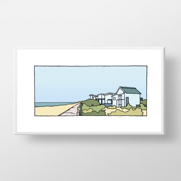 Een fine art print van Sangatte aan de Opaalkust in Frankrijk. De fine art print wordt geleverd zonder lijst en passepartout.